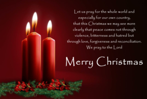 Prayer For our Christmas Holiday