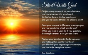 For Help To Carry The Burdens Of Life