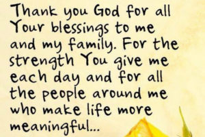 Thanks To God For Each Day Of My Life