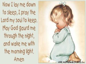 Bedtime Prayer For Families