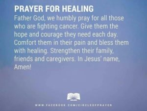 Prayer for Healing of Cancer