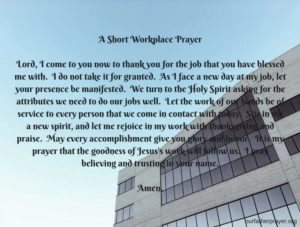 Prayer For Vindictive Work Colleagues