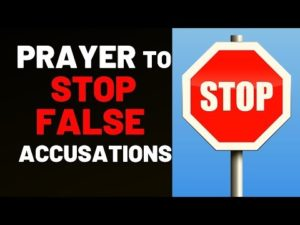 Prayer For Justice From False Accusations