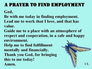 Prayer To Find A Job