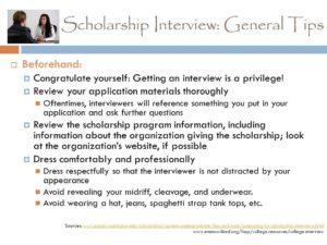 Prayer For Scholarship Interview