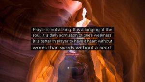 Prayer To Maintain A Spiritual Focus
