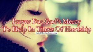 Prayer Of Thanks For God's Mercy