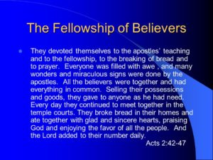 Prayer For Fellowship With Other Believers