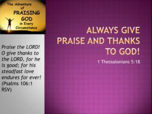Prayer of Thanks for God's Steadfast Love