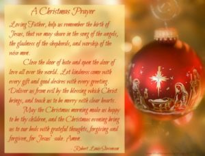 Prayer Over The Christmas Period