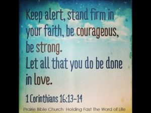 Prayer For Courage To Stand Firm