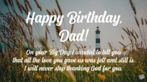 Prayer For My Daddy's Birthday