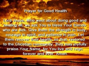 Prayer Of Blessing On ALL Who Are Sick