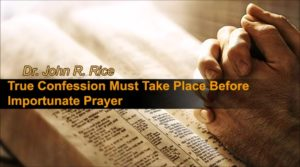 Confessional Prayer Before God