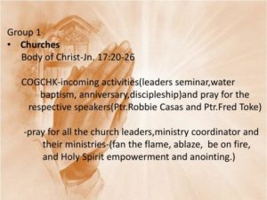 Prayer For the Church -  the Body of Christ