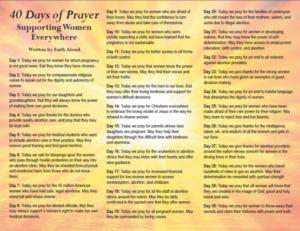 Prayer For Women Planning An Abortion