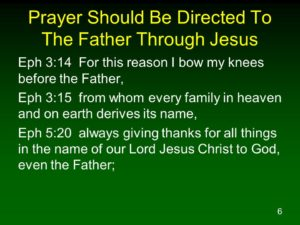 Prayer Directly to the Father