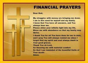 Prayer For Financial Grace