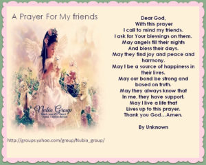 Prayer Of Thanks For A Special Woman Friend