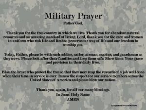 Prayer To Keep Our Armed Forces Safe