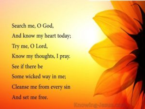 Purity Prayer, For God To Search My Heart