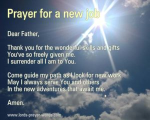 Prayer For Learning A New Job