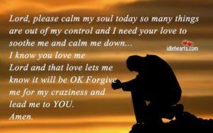 Prayer To Calm My Worried Soul