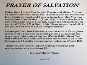 Prayer Of Thanks For Your Gift Of Salvation