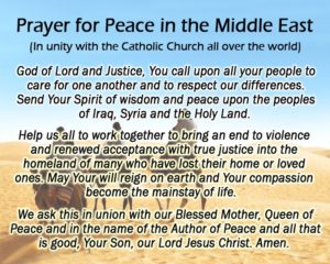 Prayer For  Justice and Peace