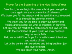 Prayer At The Beginning Of An New Day