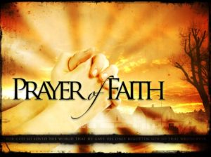 Offering a Prayer Of Faith