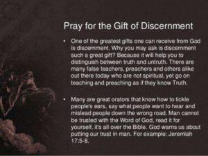 Prayer For Spiritual Discernment