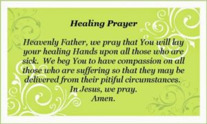 Simple Prayer For Healing