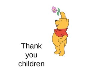 Thank you for Children Entrusted to  ME