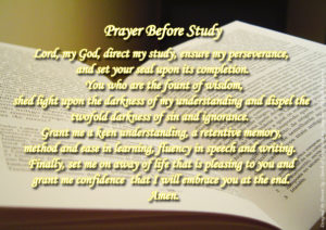 Prayer Before Studying