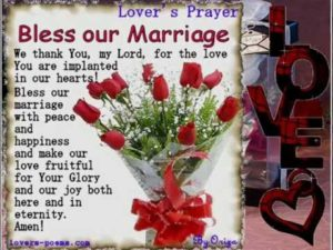 Prayer For A Fruitful Marriage