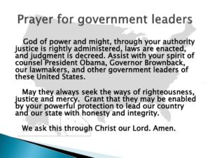 Prayer For Our Government