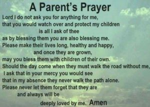 A Young Child's Prayer For Their Parents