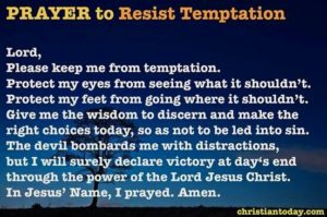 Prayer To Recognize And Resist Temptation