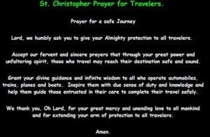 Prayer For Safe Holiday Travel