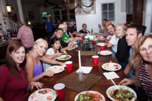 Family Reunion at the Dinner Table