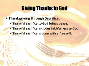 Thanksgiving That God Is In Control  Of The Future