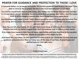 Prayer For God's Guidance and Protection