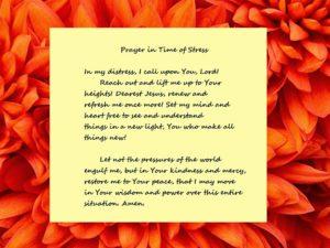 Prayer For Holiday Stress