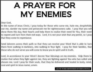 Prayer To Pray For My Enemies