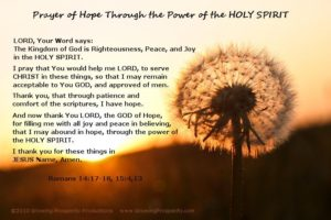 Prayer For Spiritual Hope
