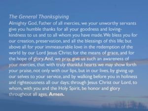 Prayer Of Thanksgiving For All You Mercies