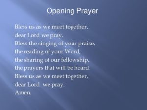 Opening Prayer For Prayer Meeting