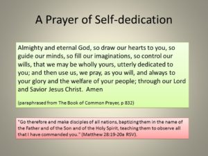 Prayer of Dedication to the Lord