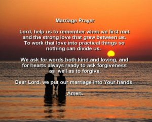 Single Man's Marriage Prayer